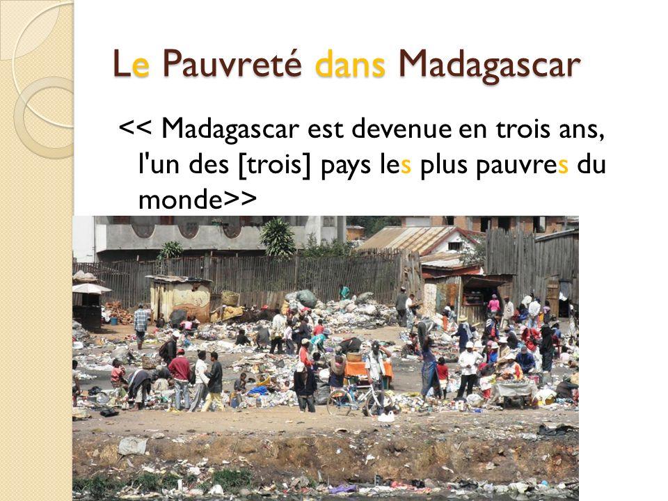 Le Pauvreté dans Madagascar