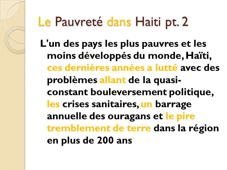Le Pauvreté dans Haiti pt. 2