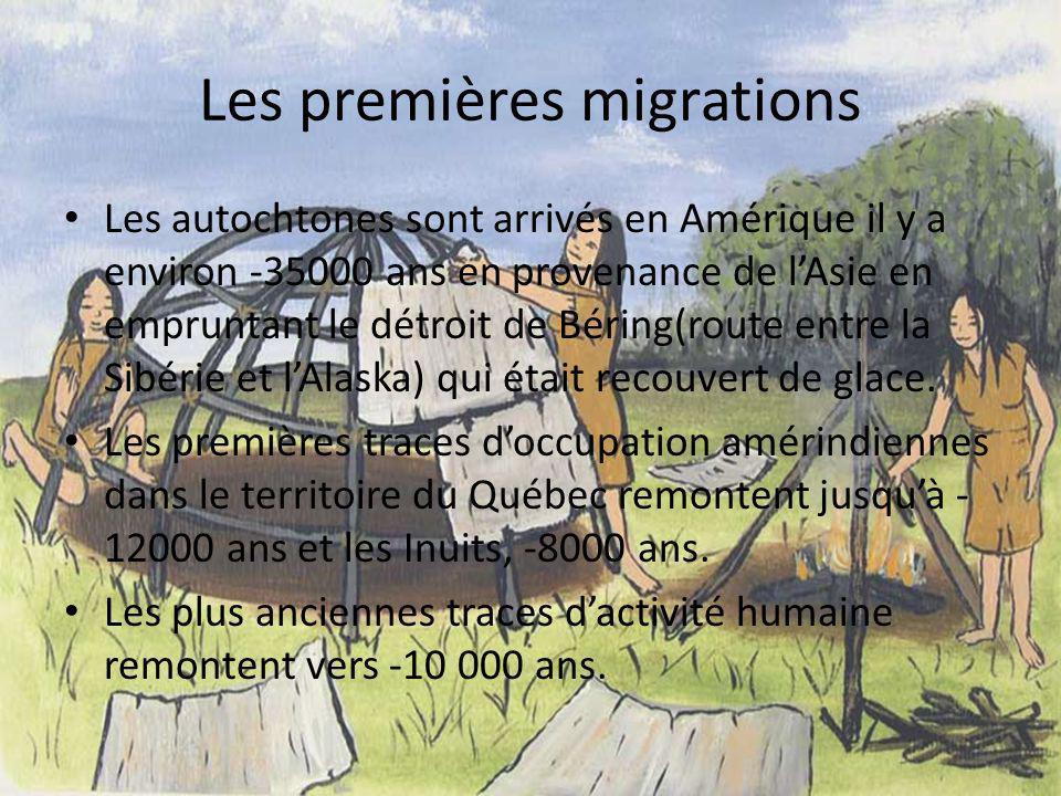 Les premières migrations
