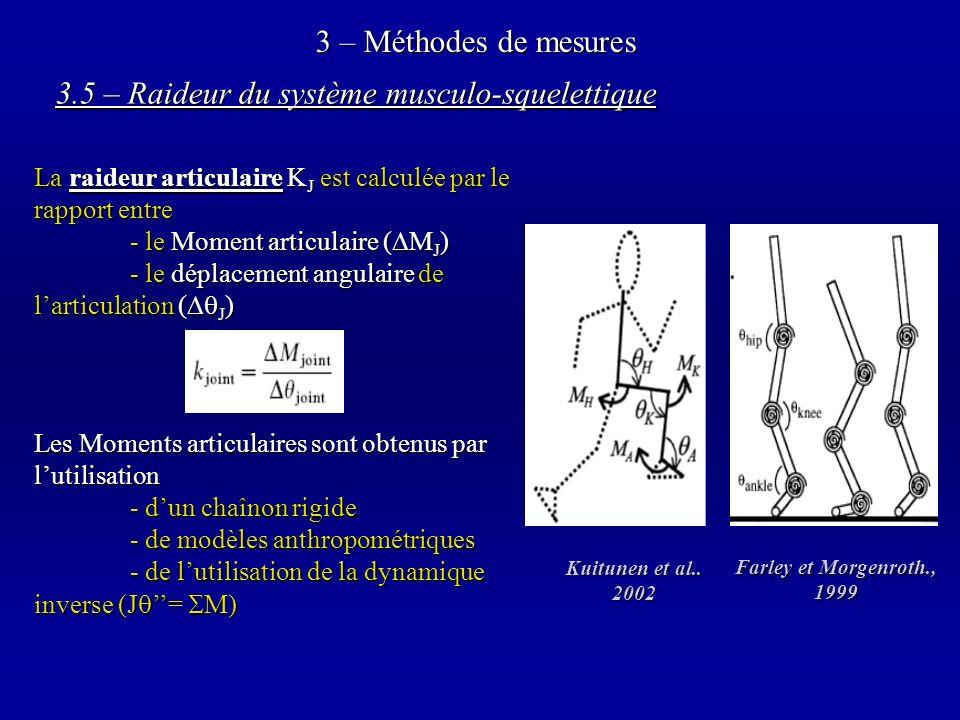 3.5 – Raideur du système musculo-squelettique