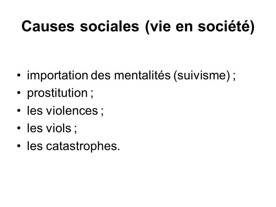 Causes sociales (vie en société)