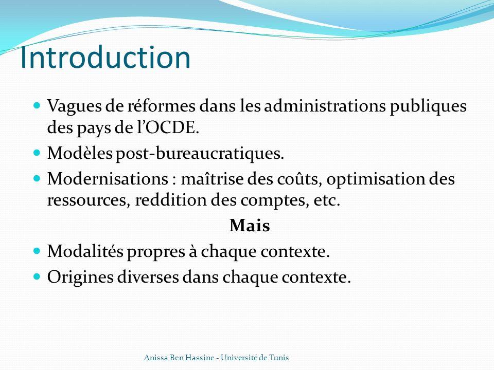 Introduction Vagues de réformes dans les administrations publiques des pays de l'OCDE. Modèles post-bureaucratiques.
