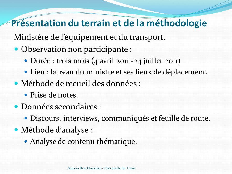 Présentation du terrain et de la méthodologie