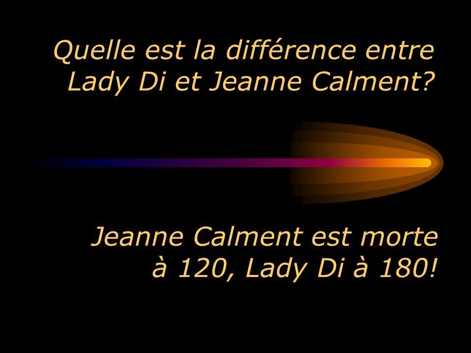 Quelle est la différence entre Lady Di et Jeanne Calment