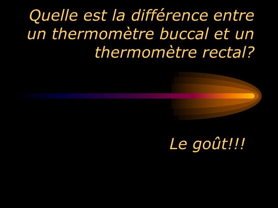 Quelle est la différence entre un thermomètre buccal et un thermomètre rectal