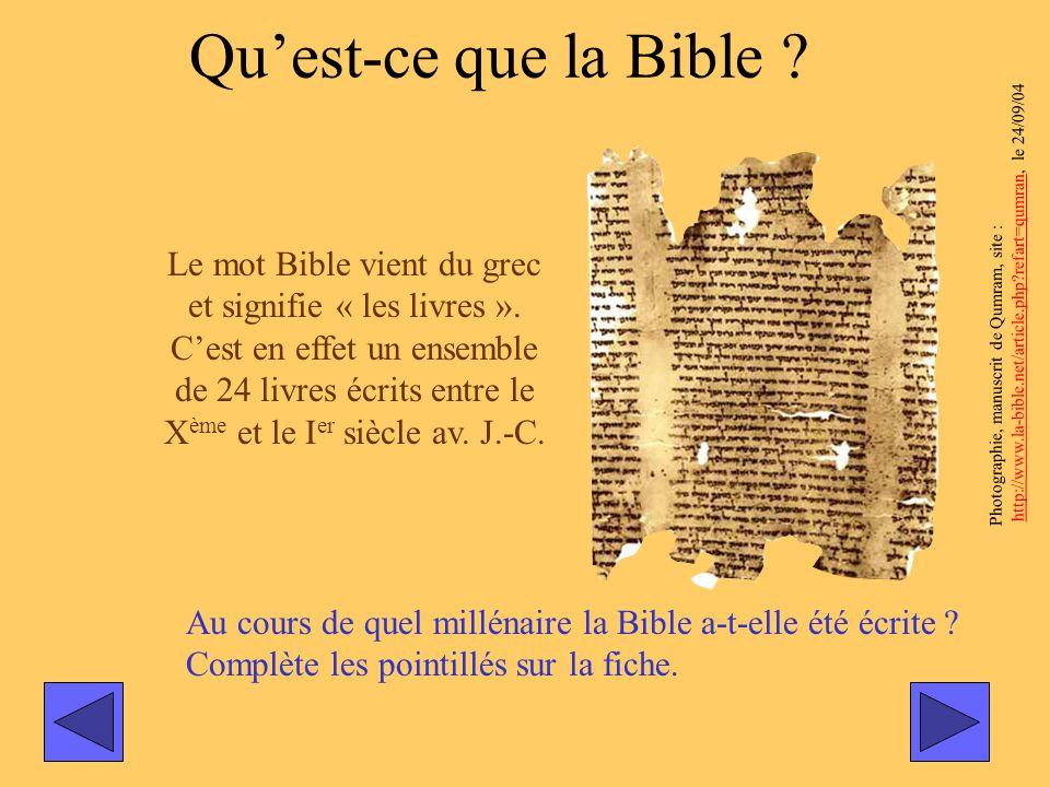 Qu'est-ce que la Bible