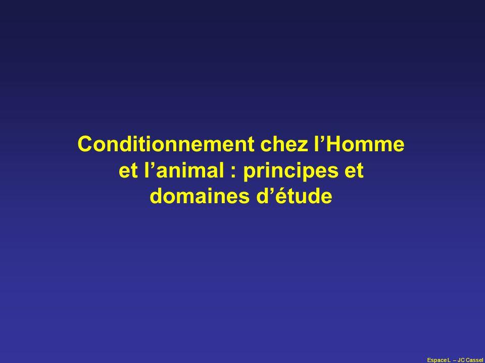 Conditionnement chez l'Homme et l'animal : principes et domaines d'étude