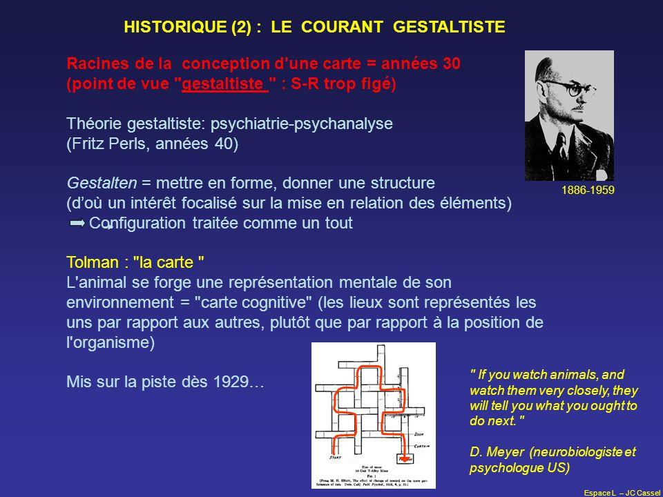 HISTORIQUE (2) : LE COURANT GESTALTISTE