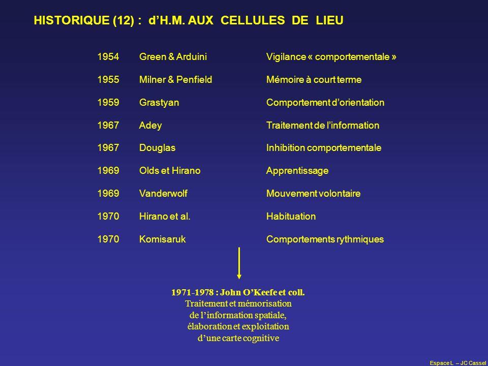 HISTORIQUE (12) : d'H.M. AUX CELLULES DE LIEU