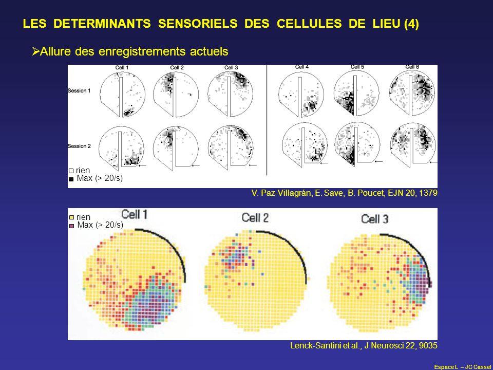 LES DETERMINANTS SENSORIELS DES CELLULES DE LIEU (4)