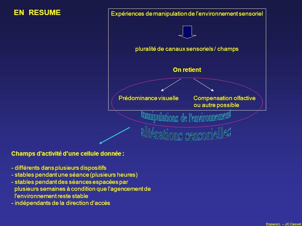 altérations sensorielles manipulations de l environnement