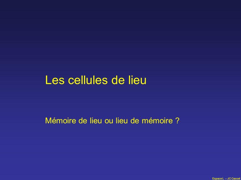 Les cellules de lieu Mémoire de lieu ou lieu de mémoire