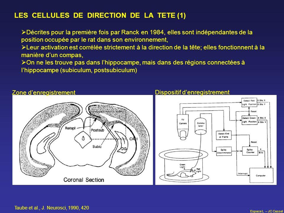 LES CELLULES DE DIRECTION DE LA TETE (1)