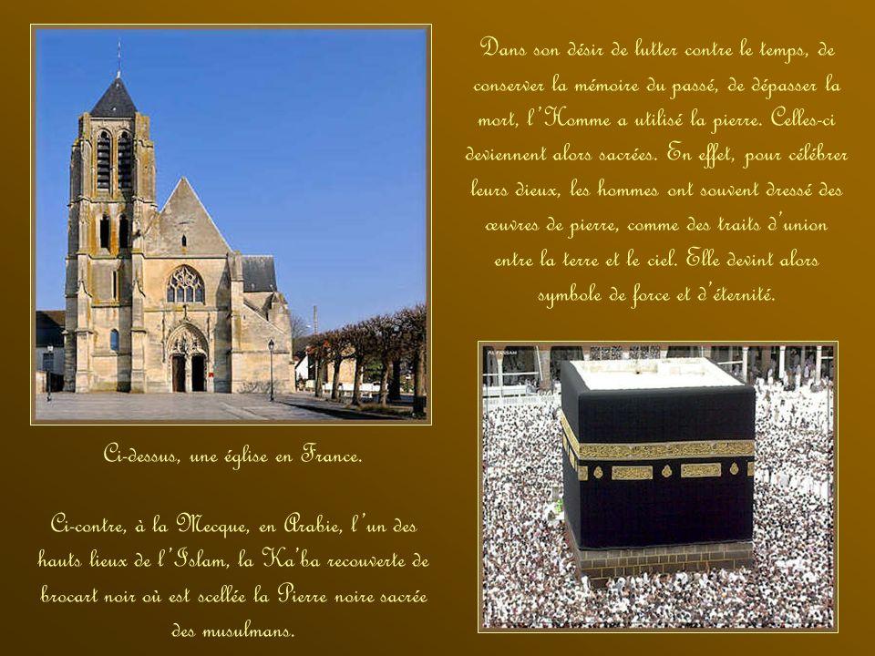 Ci-dessus, une église en France.