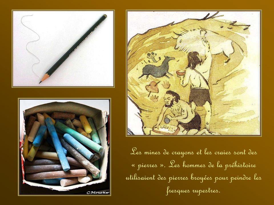 Les mines de crayons et les craies sont des « pierres »