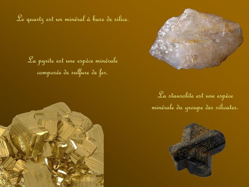 Le quartz est un minéral à base de silice.