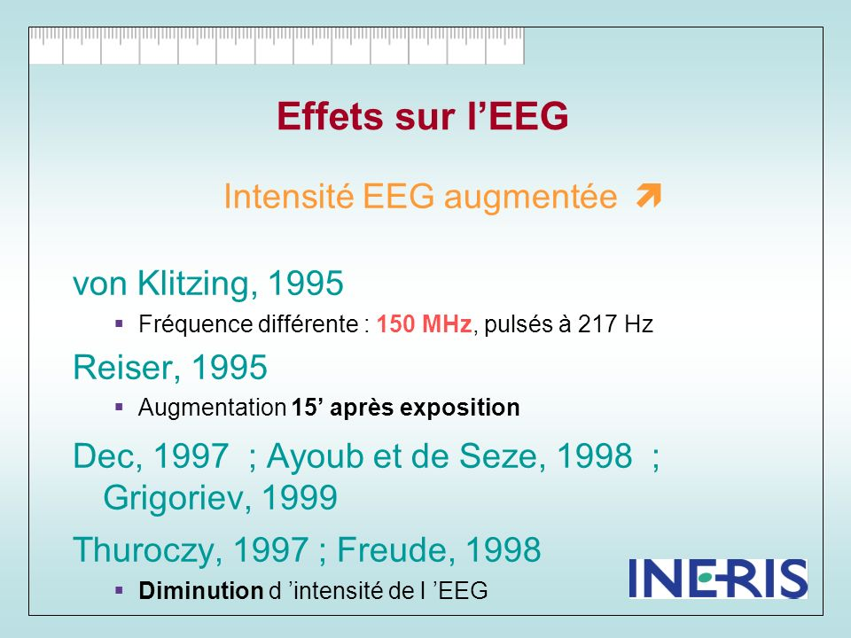 Intensité EEG augmentée 