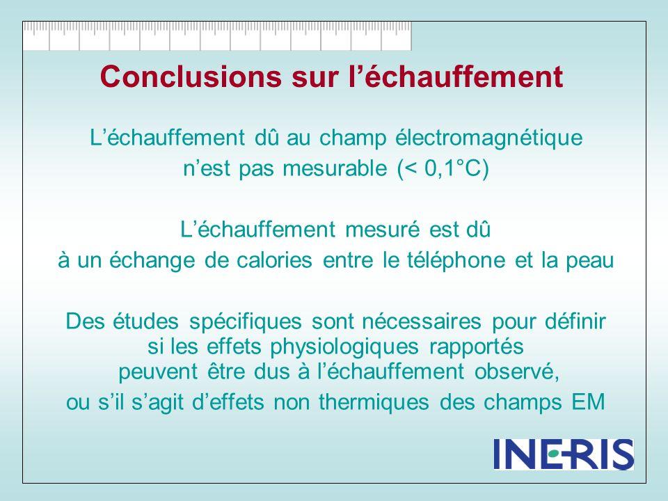 Conclusions sur l'échauffement
