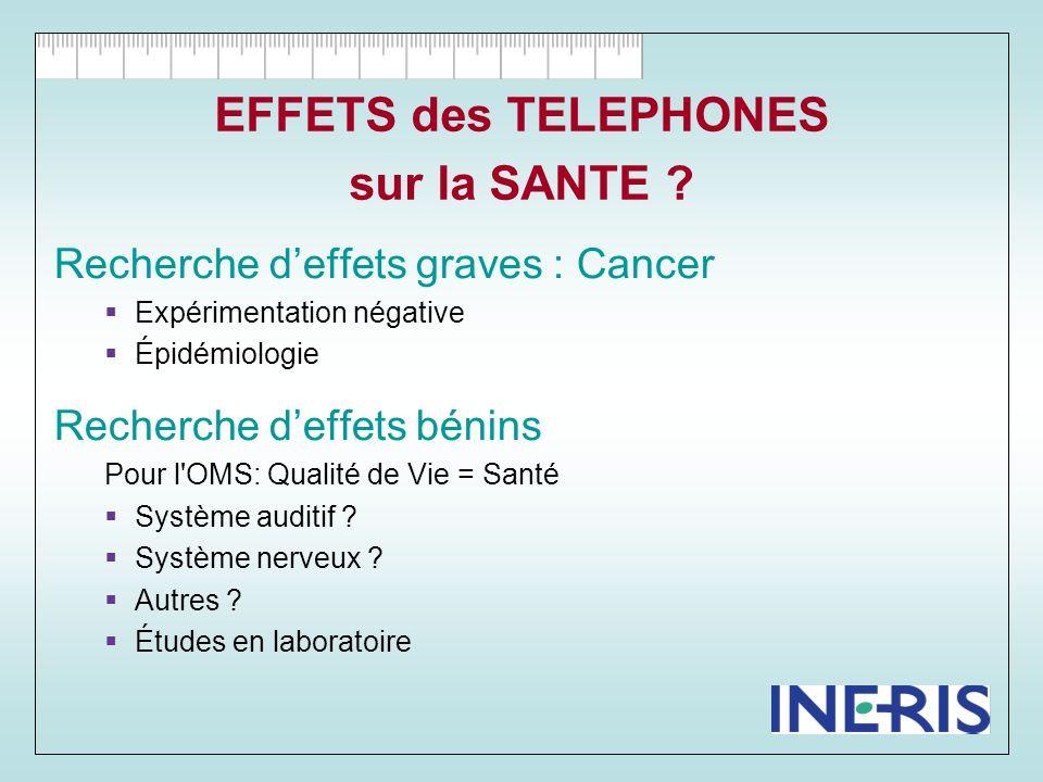 EFFETS des TELEPHONES sur la SANTE