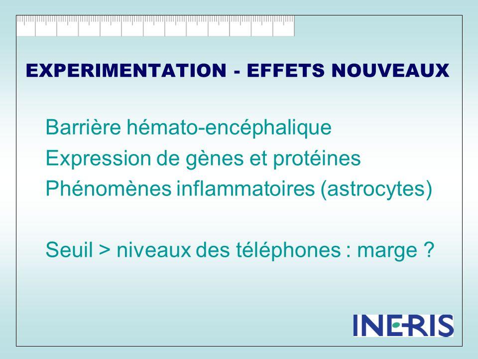 EXPERIMENTATION - EFFETS NOUVEAUX