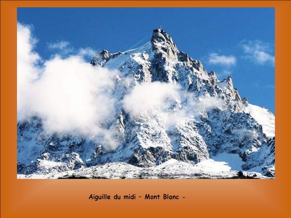 Aiguille du midi – Mont Blanc -