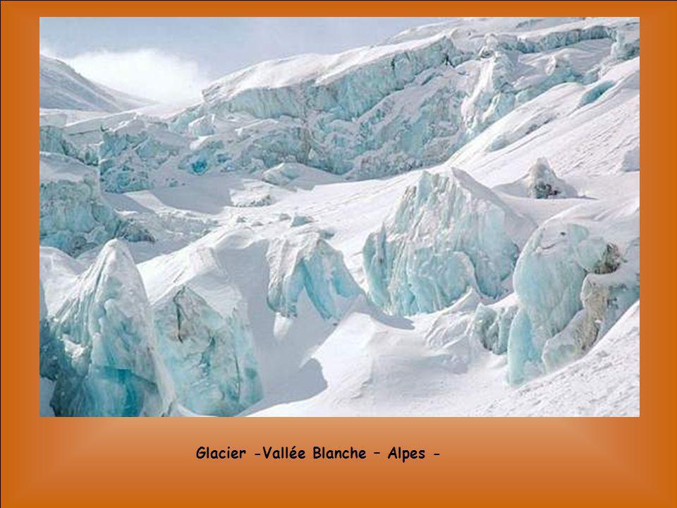 Glacier -Vallée Blanche – Alpes -