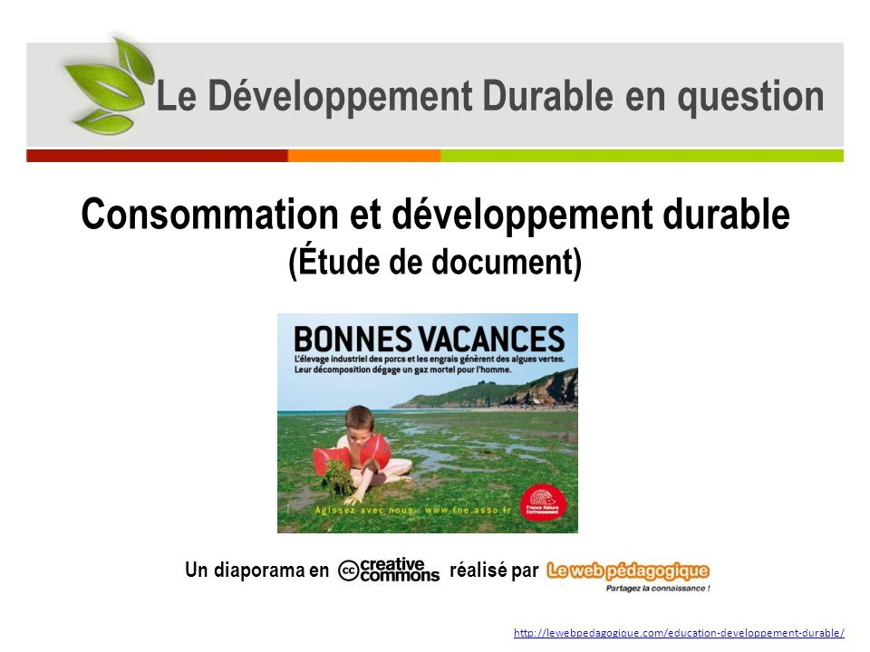 Consommation et développement durable