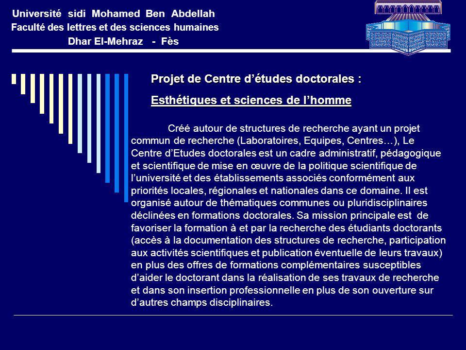 Projet de Centre d'études doctorales :
