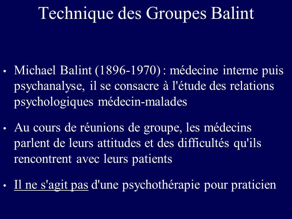 Technique des Groupes Balint