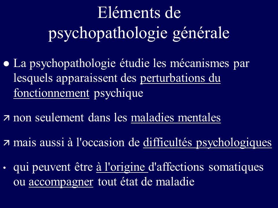 Eléments de psychopathologie générale
