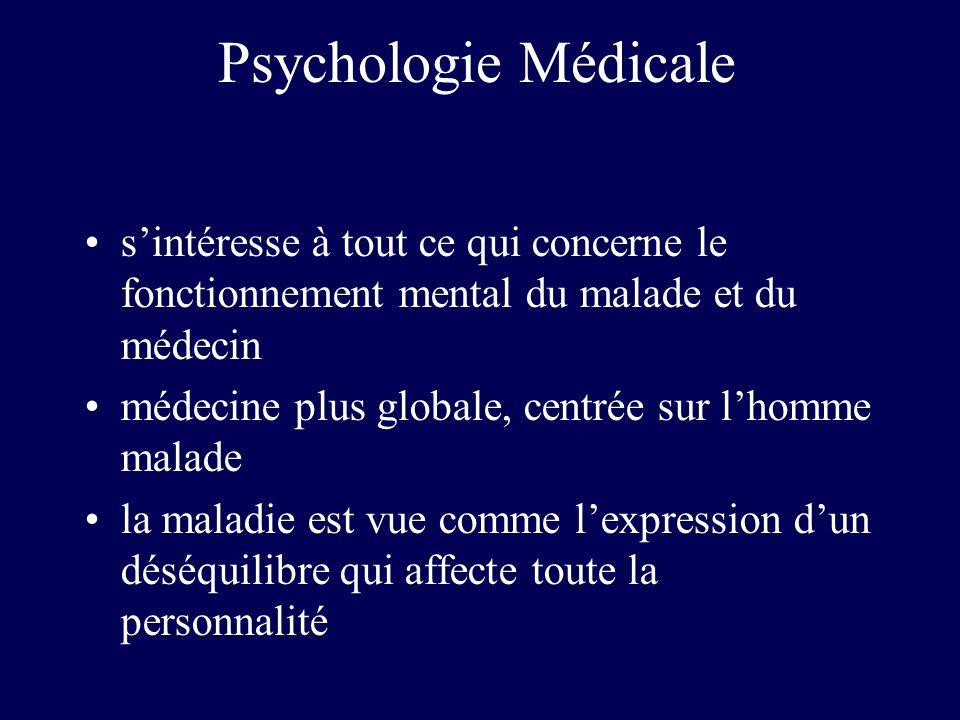 Psychologie Médicale s'intéresse à tout ce qui concerne le fonctionnement mental du malade et du médecin.