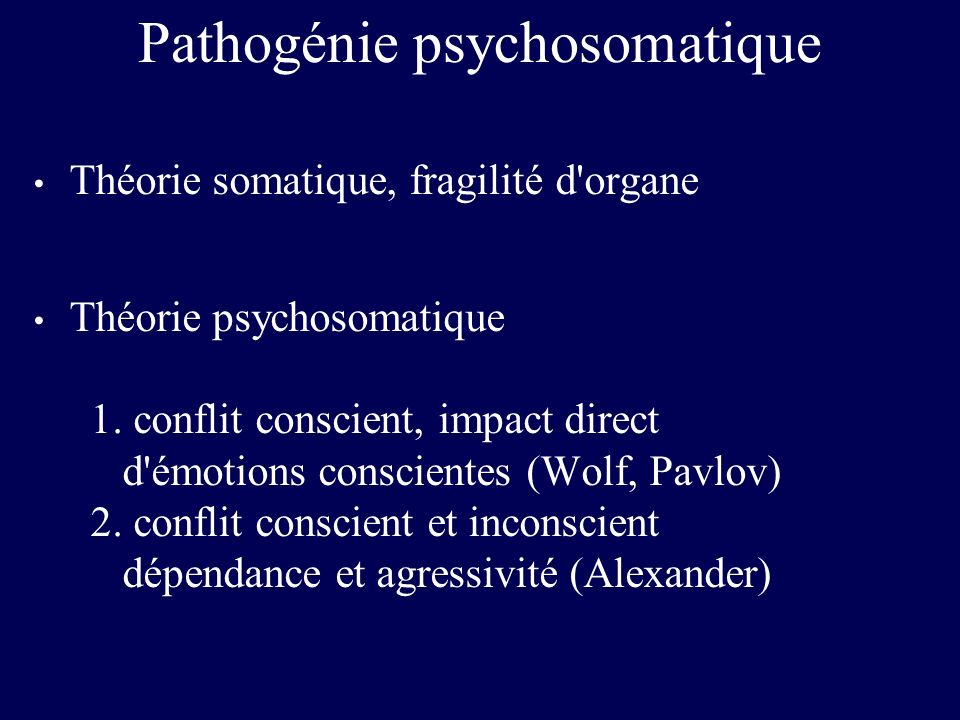 Pathogénie psychosomatique
