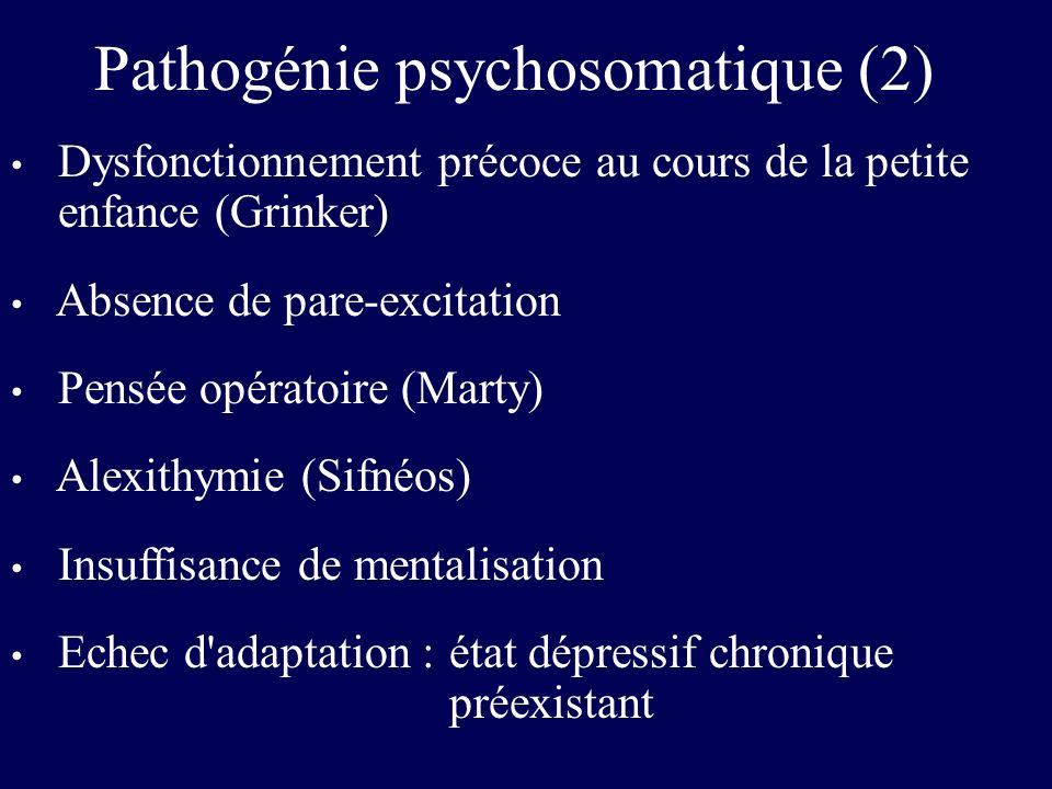Pathogénie psychosomatique (2)