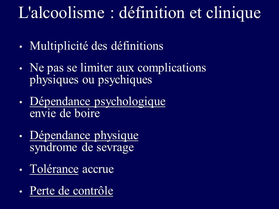L alcoolisme : définition et clinique