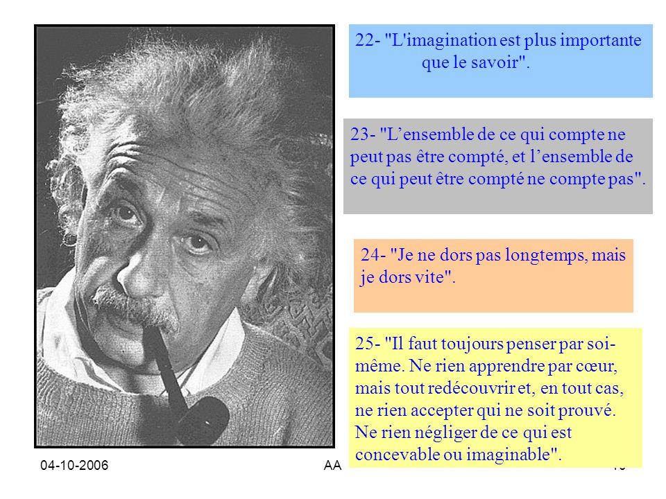 22- L imagination est plus importante que le savoir .