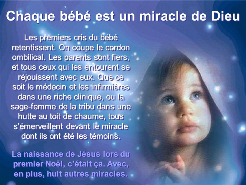 Chaque bébé est un miracle de Dieu