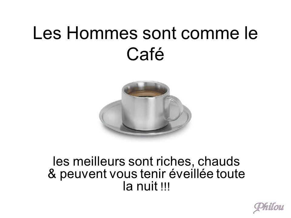 Les Hommes sont comme le Café