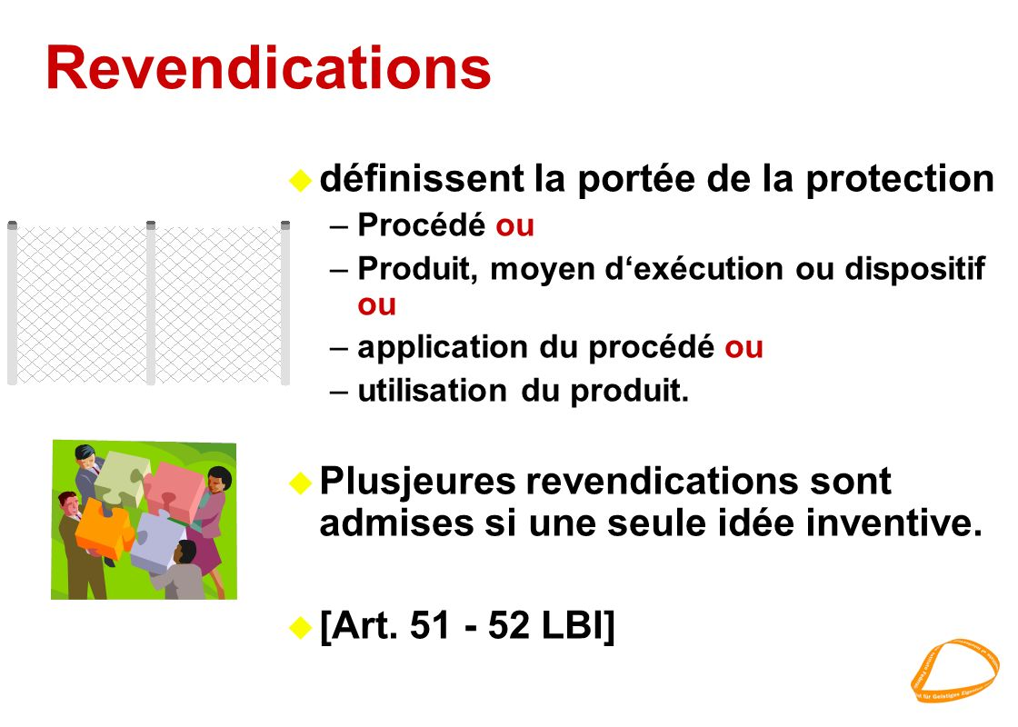 Revendications définissent la portée de la protection