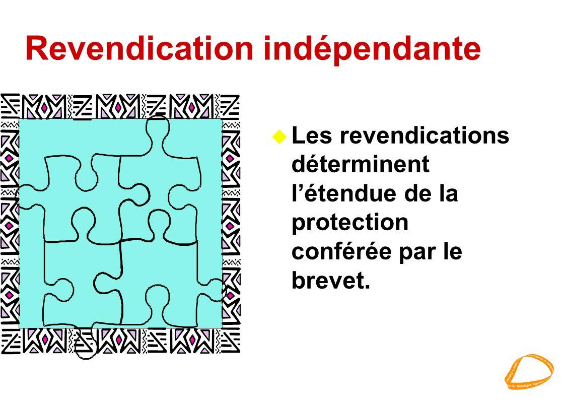 Revendication indépendante