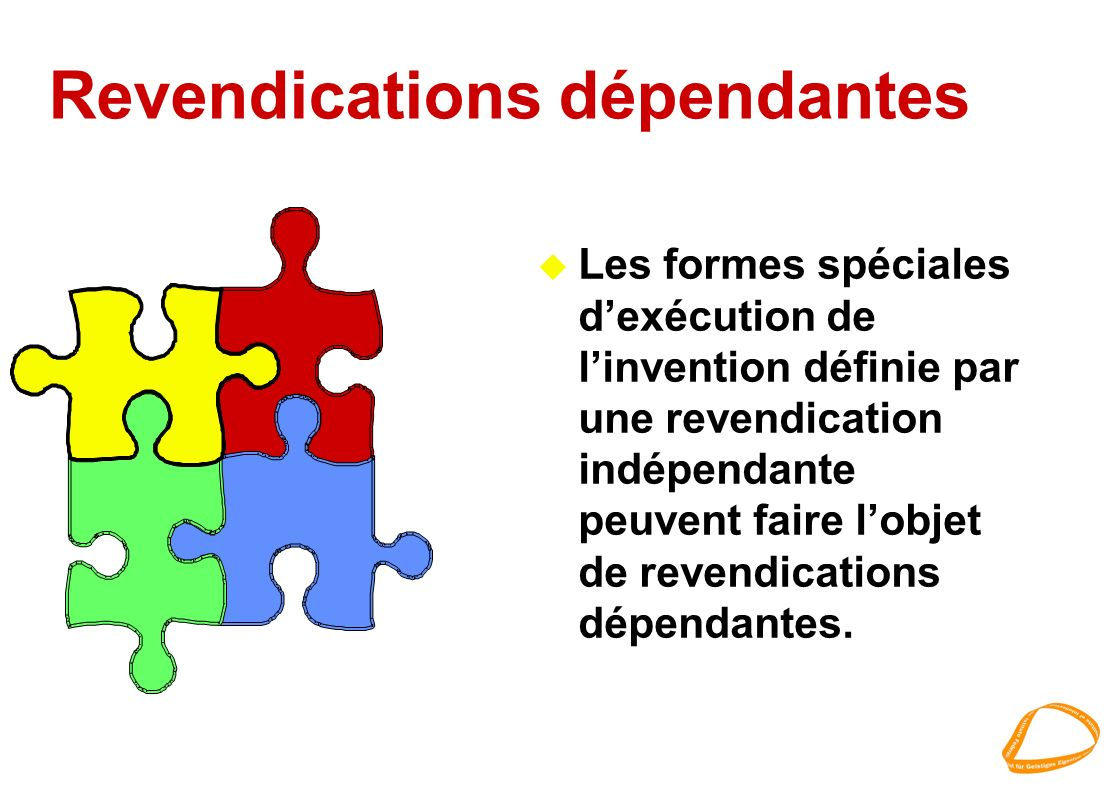 Revendications dépendantes