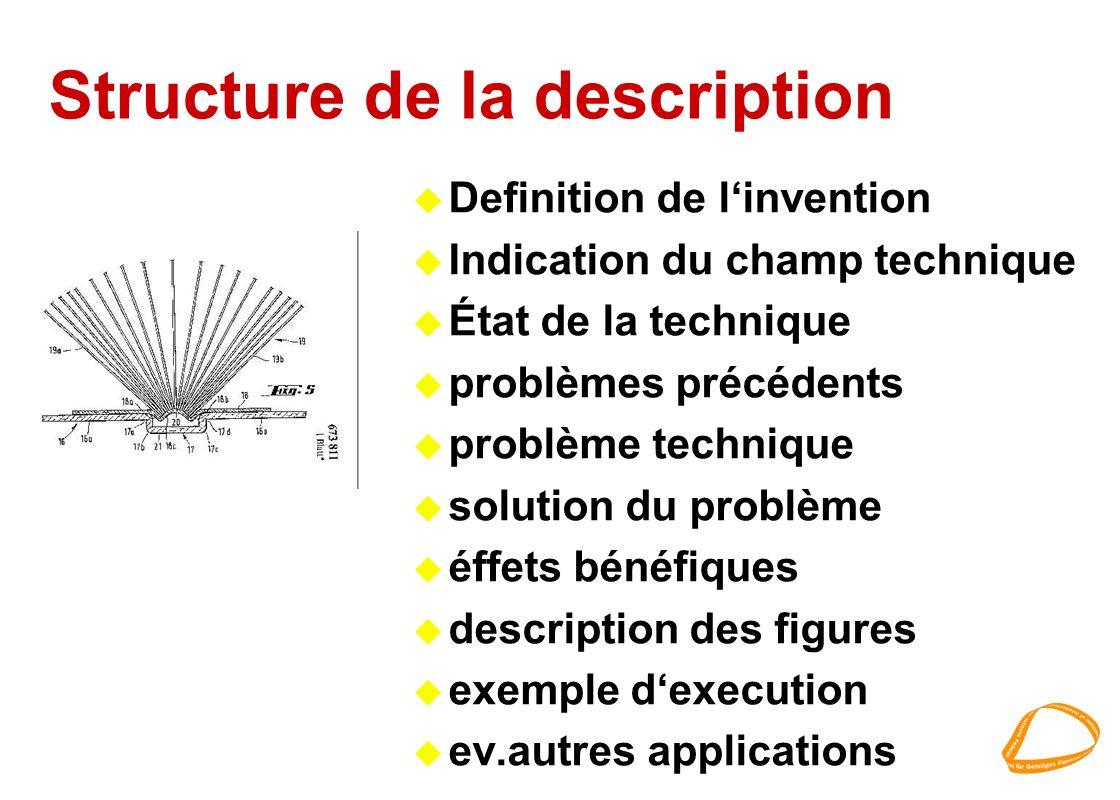 Structure de la description