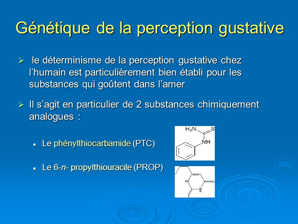 Génétique de la perception gustative