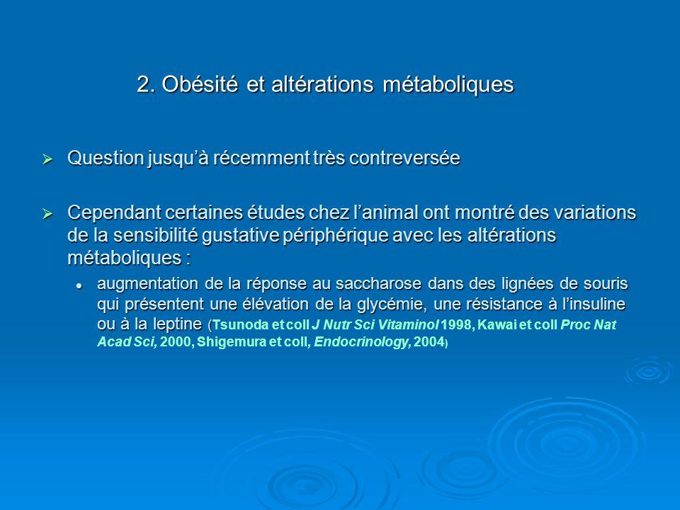 2. Obésité et altérations métaboliques