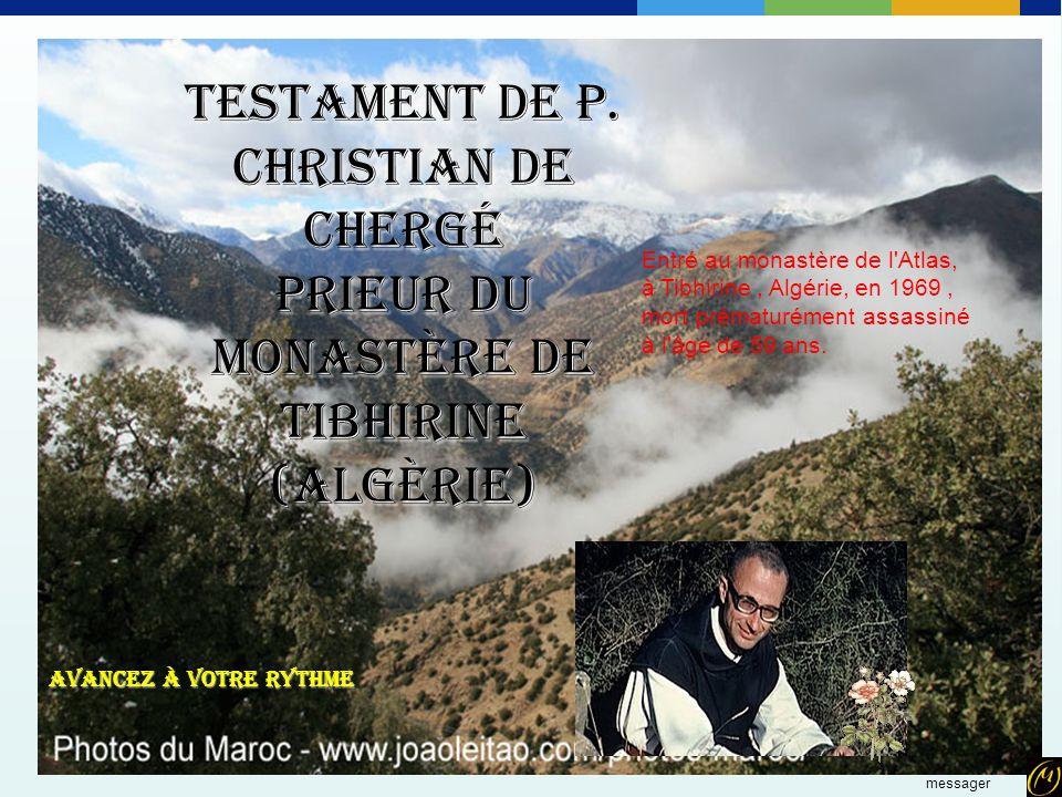Testament de P. Christian de Chergé