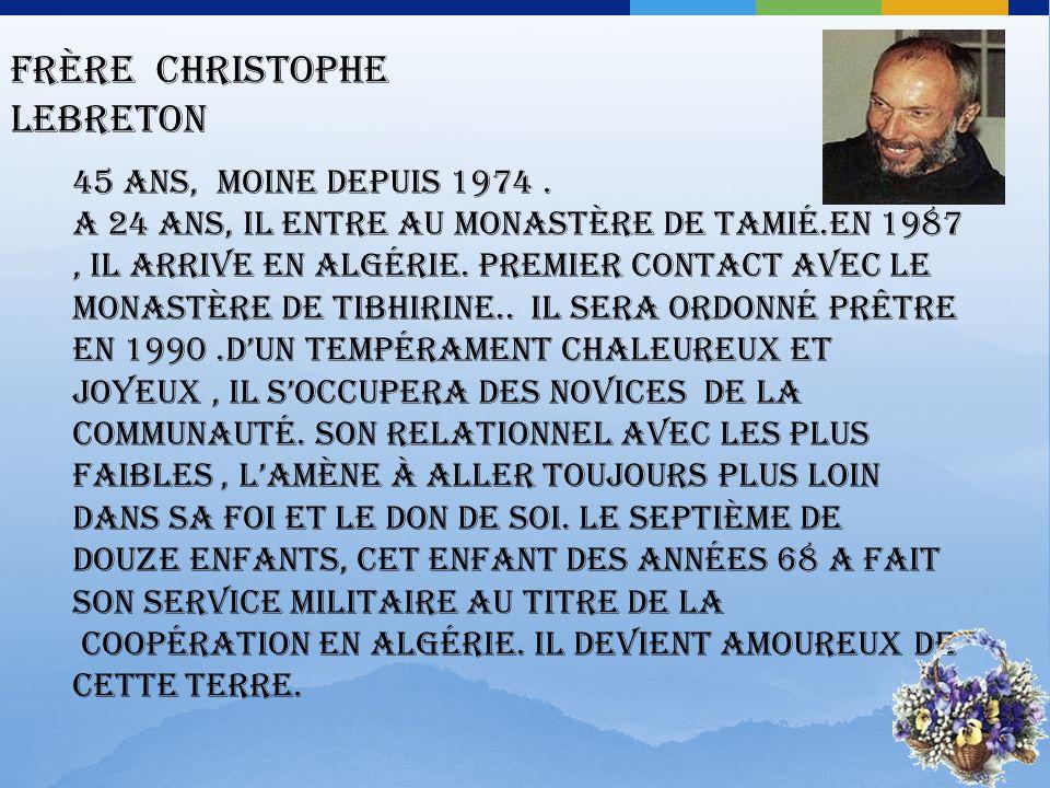 Frère Christophe Lebreton