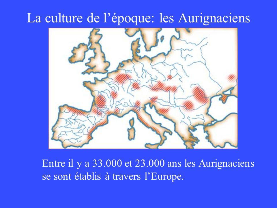 La culture de l'époque: les Aurignaciens
