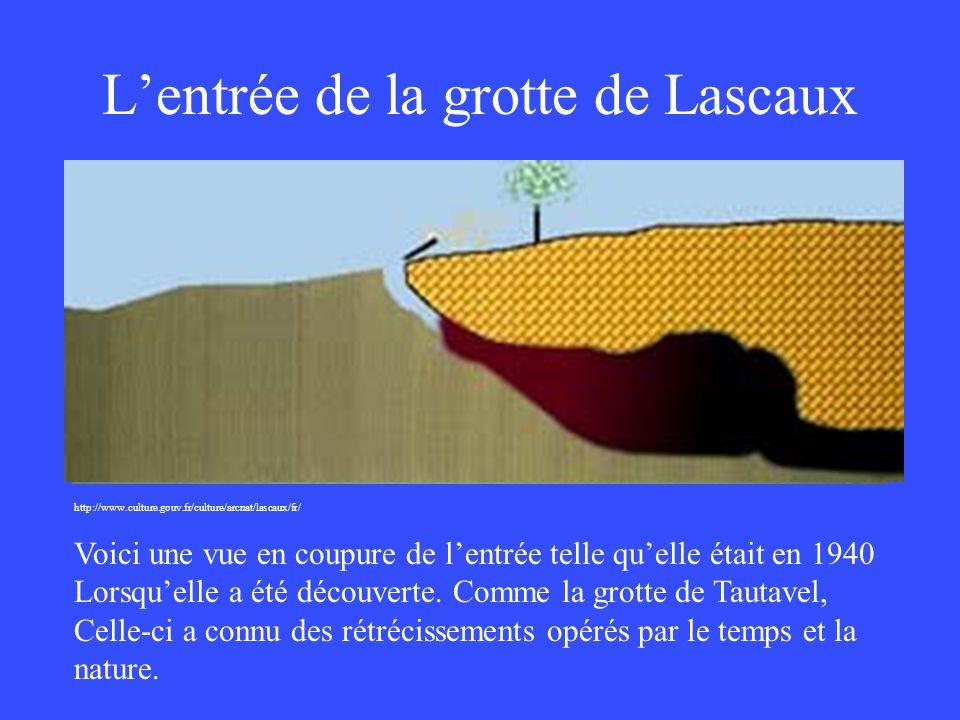 L'entrée de la grotte de Lascaux