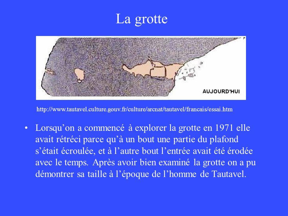 La grotte http://www.tautavel.culture.gouv.fr/culture/arcnat/tautavel/francais/essai.htm.