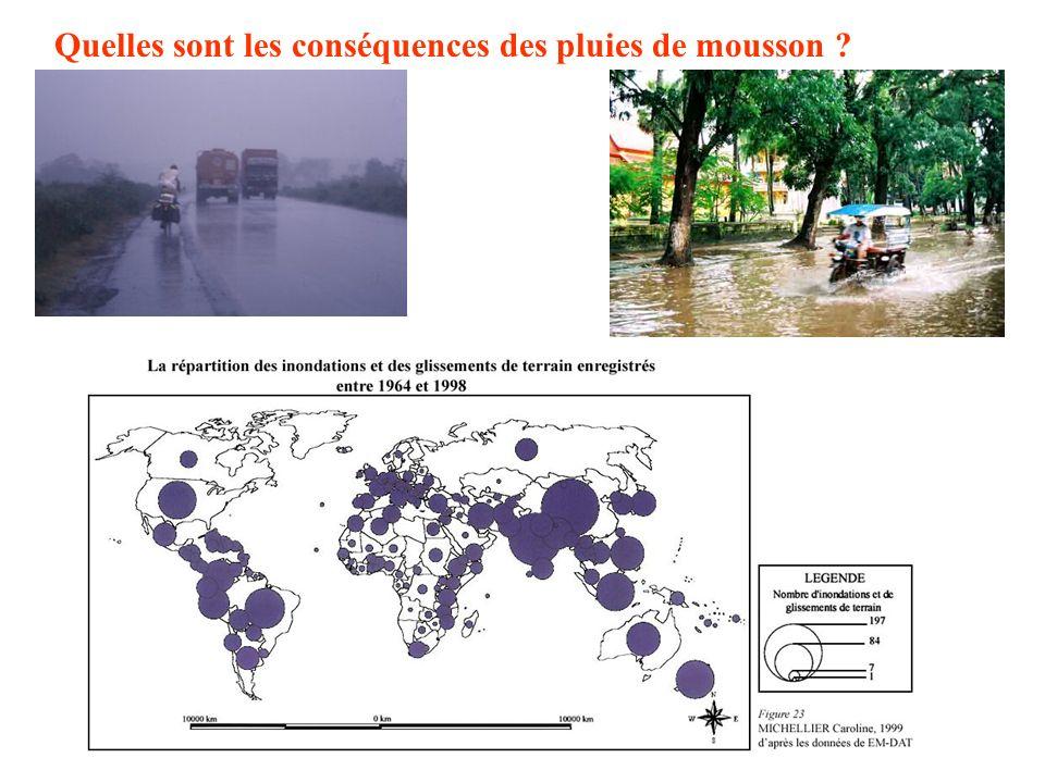 Quelles sont les conséquences des pluies de mousson