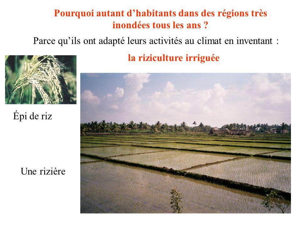 Pourquoi autant d'habitants dans des régions très inondées tous les ans